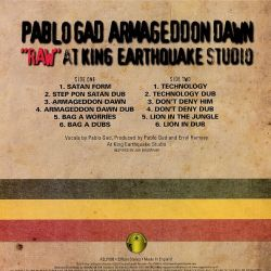 "Pablo Gad - Armageddon Dawn ""Raw"" At King Earthquake Studio - LP"