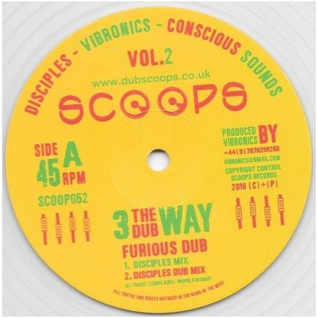 The Disciples  / Vibronics / Conscious Sounds - Furious Dub - 10""
