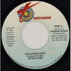 Michael Rose - Not Doing Right - 7""