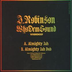 "J. Robinson  - Almighty Jah - 7"""