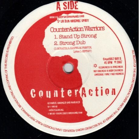 """Counteraction / Jah Mystic - Stand Up Strong / I-tinual Meditation - 10"""""""