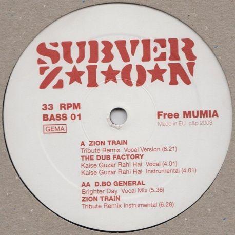 "Zion Train / The Dub Factory / D.Bo General - Tribute / Brighter Day - 12"""