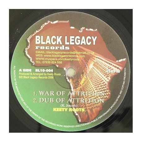 Keety Roots - War Of Attrition , Solid Rock - 10""