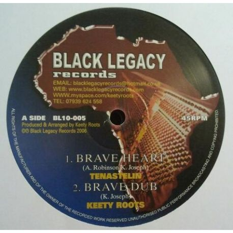 Tenastelin & Keety Roots - Brave Heart , His Majesty - 10""