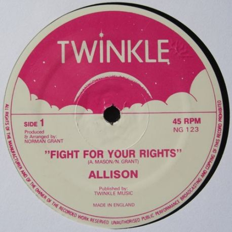 Allison  / Rass Brass / Twinkle Riddim Section - Fight For Your Rights / Fight The Fight - 12""