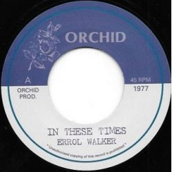Errol Walker -  In These Times  - 7""