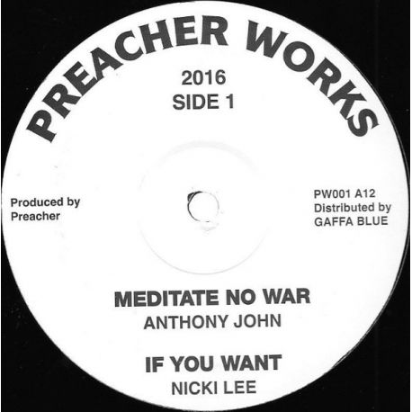 Anthony John / Nicki Lee  / Leroy Green -  Meditate No War / If You Want / My Father  - 12""