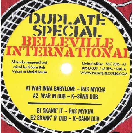 Ras Mykha -  War Inna Babylone / Skank' It - 10""