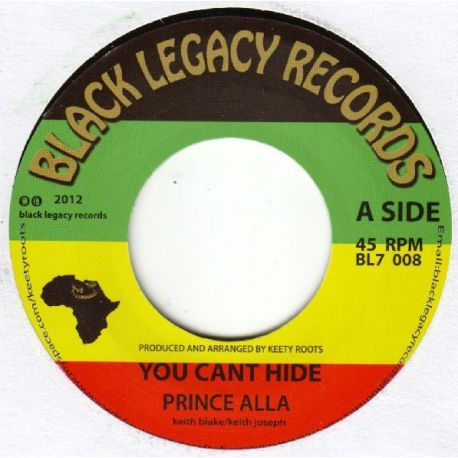 Prince Alla / Keety Roots - You Can't Hide - 7""