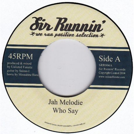 "Jah Melodie - Who Say - 7"""