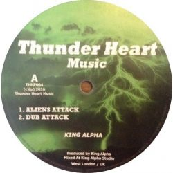 King Alpha - Aliens Attack / Galaxly Dub - 10""