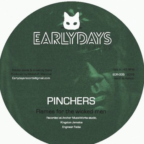 """Pinchers / Robert Ffrench - Flames For The Wicked Man / Cashflow  - 12"""""""