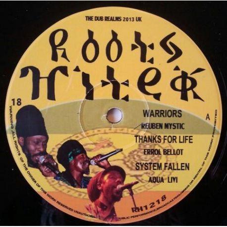 Reuben Mystic / Errol Bellot / Aqua Levi /  - Warriors / Thanks For Life / System Fallen / Drums Inna Ghana / Horns Inna Ghana /