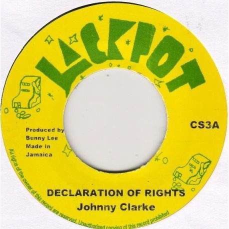 "Johnny Clarke - Declaration Of Rights - 7"" - Jackpot"