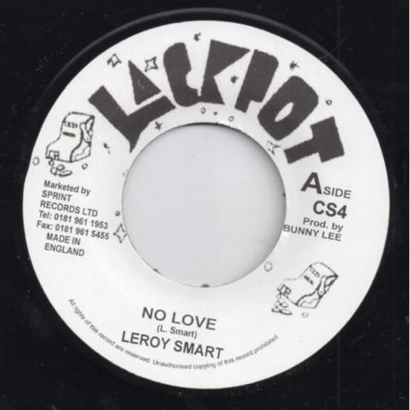 "Leroy Smart - No Love - 7"" - Jackpot"
