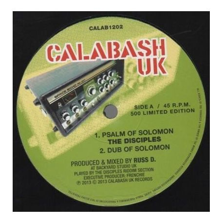"The Disciples  - Psalm Of Solomon - 12"" - Calabash Records"