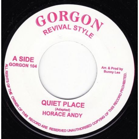 "Horace Andy / King Tubby / The Aggrovators - Quiet Place / Dub Place - 7"" - Gorgon Revival Style"