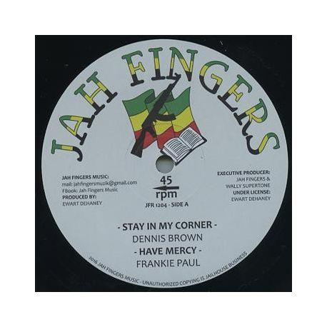 """Dennis Brown / Frankie Paul - Stay In My Corner / Have Mercy - 12"""" - Jah Fingers Music"""