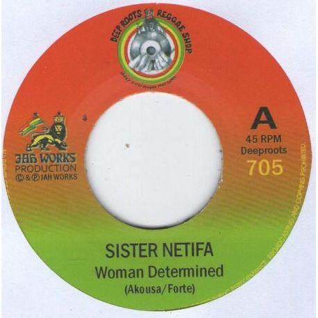 "Sister Netifa - Woman Determined  - 7"" - Deep Roots Reggae Shop"