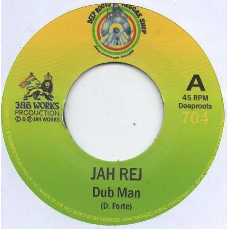 "Jah Rej -  Dub Man - 7"" - Deep Roots Reggae Shop"