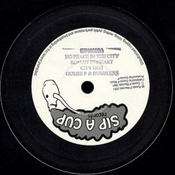 "Roman Stewart - No Peace In The City / Praise Jah - 10"" - Sip A Cup Records"