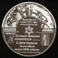 "Tenastelin - Cosmic Session / Mother's Song - 10"" - Roots Hitek Music"