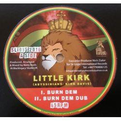 "Little Kirk / Sta'Sax / Keety Roots - Burn Dem - 10"" - Sir Logie International Records"