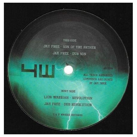 """Jah Free / Lion Warriah - Son Of The Father / Revolution  - 10"""" - 4Weed Records"""