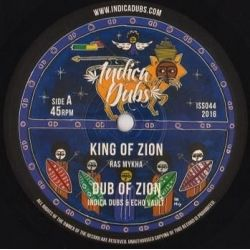 "Ras Mykha - King Of Zion - 10"" - IndicaDubs"