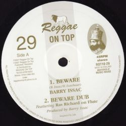 "Barry Issac - Beware - 10"" - Reggae On Top"