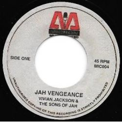 "Vivian Jackson / The Sons Of Jah  - Jah Vengeance - 7"" - Micron Music Limited"