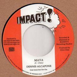 """Dennis Alcapone / Impact All Stars - Mava / Mava Passion - 7"""" - Impact"""