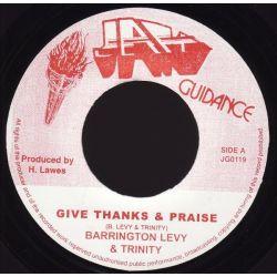 """Barrington Levy / Trinity  - Give Thanks & Praise - 7"""" - Jah Guidance"""