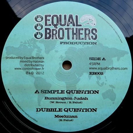 Bunnington Judah , Dan I Locks - A Simple Question , Bye Bye Babylon - 12""