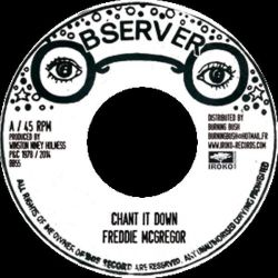 "Freddie McGregor - Chant It Down - 7"" - Iroko Records"