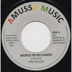 "Enos McLeod - World In His Hands - 7"" - Amussu Music"