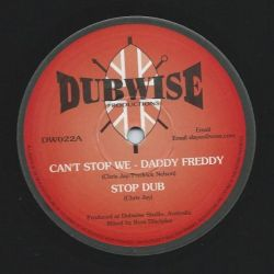 "Daddy Freddy / Judy Green - Can't Stop We / The Mirror - 10"" - Dubwise Productions"