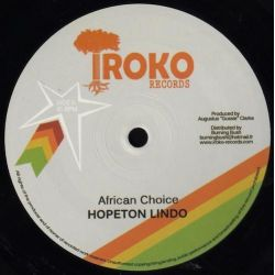 "Hopeton Lindo - African Choice / False Sentence - 12"" - Iroko Records"