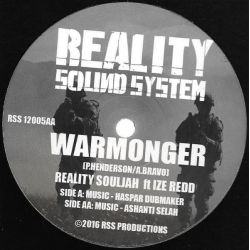"Reality Souljahs / Ize Redd - Warmonger - 12"" - Reality Sound System"