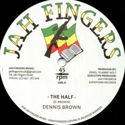 "Dennis Brown - The Half / Bless Me Jah - 12"" - Jah Fingers Music"