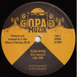 "Earl Zero - Please Officer - 7"" - Opa Muzik"