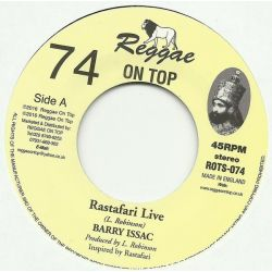 "Barry Issac - Rastafari Live - 7"" - Reggae On Top"