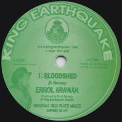"Errol Arawak - Bloodshed - 7"" - King Earthquake"