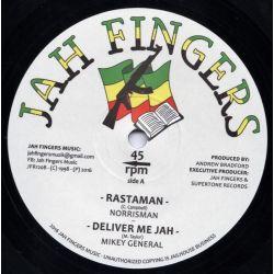 "Norrisman / Mikey General / Buccaneer - Rastaman / Deliver Me Jah / Dem A Hypocrite - 12"" - Jah Fingers Music"