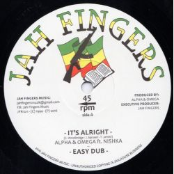 "Alpha & Omega / Nishka - It's Alright - 12"" - Jah Fingers Music"