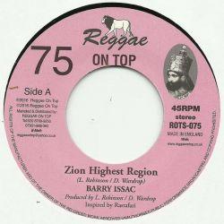 "Barry Issac - Zion Highest Region - 7"" - Reggae On Top"