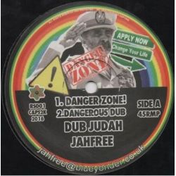 "Dub Judah / Jah Free - Danger Zone! / Into The Zone - 12"" - Not On Label"