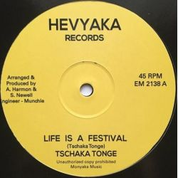 "Tschaka Tonge - Life Is A Festival - 12"" - Hevyaka Records"