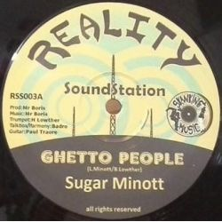 "Sugar Minott - Ghetto People - 12"" - Reality Sound Station"