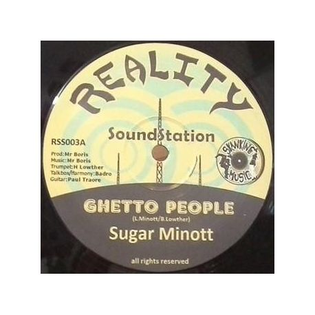 "Sugar Minott - Ghetto People - 12"" - Reality Sound Station"
